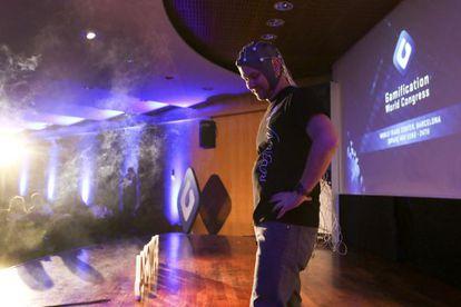 Daniel González, director de UX Research de Redbility, presenta un proyecto sobre neuro-gamificación en el III Gamification World Congress.