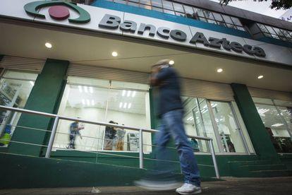 Una sucursal de Banco Azteca en la Ciudad de México.