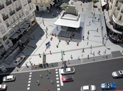 Recreación del templete de la Red de San Luis. © Ayuntamiento de Madrid