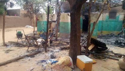 Imagen de archivo de un ataque en el centro de Malí el pasado mes de abril.