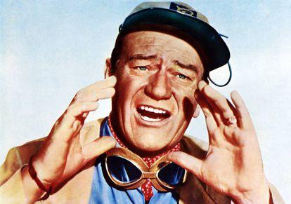 John Wayne, gritando en 'Hatari!' (1962).