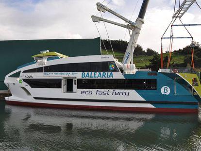 Nuevo ferri construido en Asturias para Baleària.