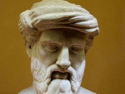 Busto de Pitágoras en los Museos Capitolinos.