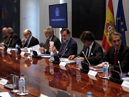 Mariano Rajoy preside la reunión del Consejo de Seguridad Nacional que aprobó la nueva Estrategia de Seguridad Nacional.