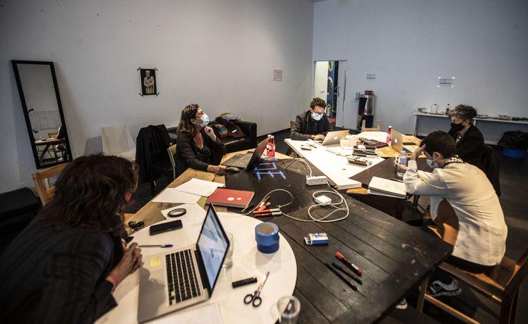 La 'Segunda Oficina de Gestión de Ideas' en el Centro de Arte 2 de Mayo de Móstoles, el 2 de octubre.
