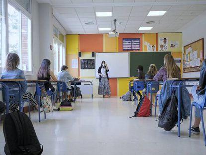 Alumnos de segundo de Bachillerato del Colegio Alameda de Osuna, Madrid.