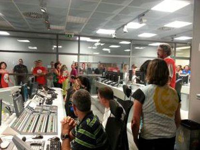 Los trabajadores han ocupado el estudio de emisión de Canal 9