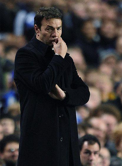 El técnico rojiblanco, durante el partido de Liga de Campeones ante el Chelsea