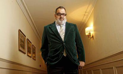 Jorge Lanata, en su receinte visita a Madrid, donde recogió el Premio Internacional de la Academia de televisión de España.