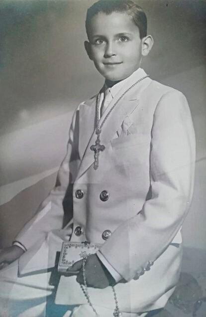 Alfonso Caparrós, víctima de abusos en los jesuitas de Málaga en los años cincuenta, cuando tenía 7 años, edad en que sufrió las agresiones.
