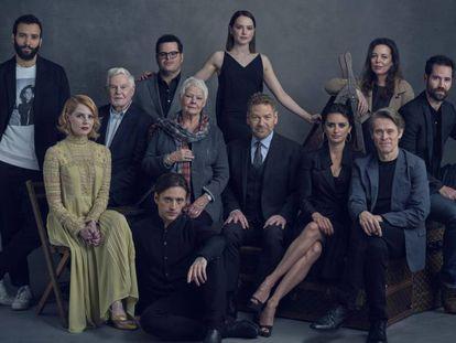 Imagen del reparto de 'Asesinato en el Orient Express'.