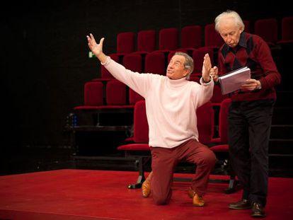 Arturo Fernández y Albert Boadella, en un ensayo de la obra.