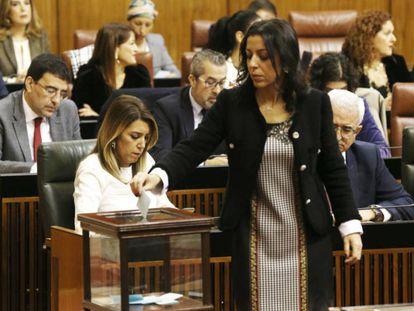 Marta Bosquet, la nueva presidenta del Parlamento andaluz. En el vídeo, su discurso tras ser elegida. ALEJANDRO RUESGA / Atlas