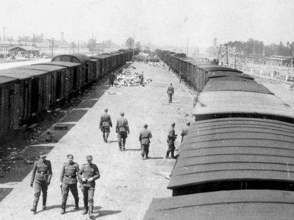 Guardias de la SS en el campo nazi de Auschwitz.