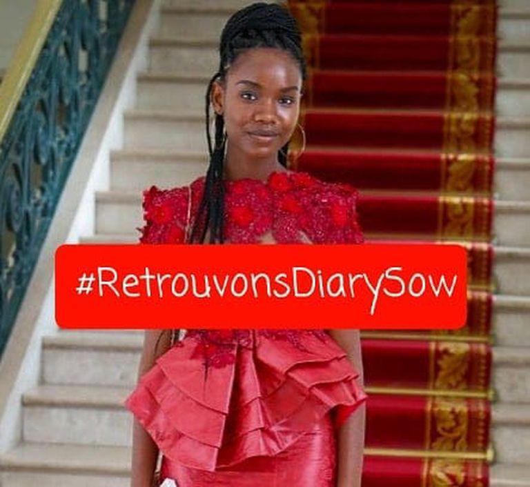 Diary Sow, una ejemplar estudiante senegalesa en París, desaparecida desde el 4 de enero.