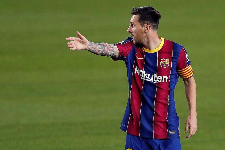 Messi, durante un partido del Barcelona de esta temporada.
