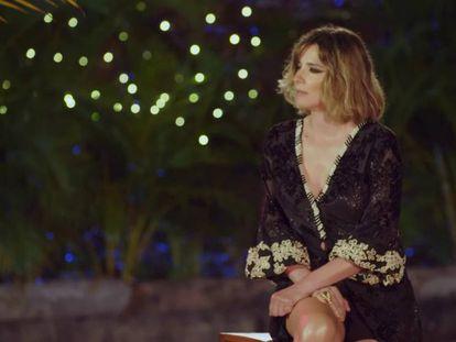 Sandra Barneda, durante el programa 'La isla de las tentaciones'.