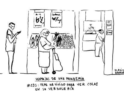 Las colas de la pandemia, por Flavita Banana
