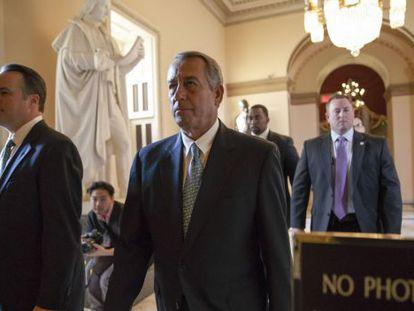 El líder republicano del Congreso, Boehner, este viernes.