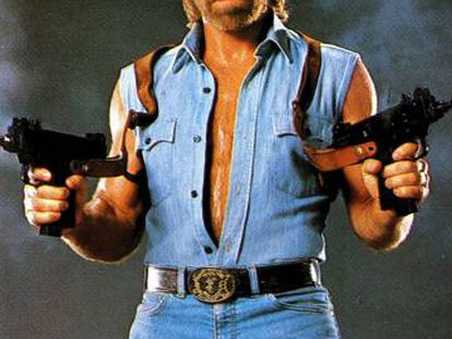 Chuck Norris, en la película de 1985 'Invasión USA'.
