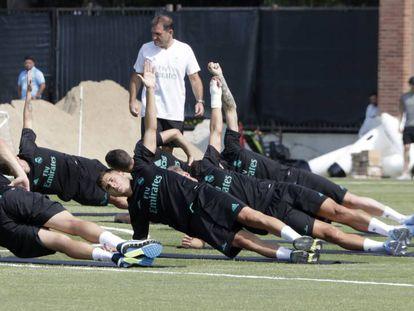 Entrenamiento del Madrid en Los Ángeles.