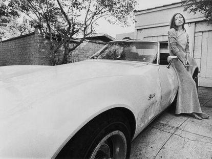 La escritora Joan Didion.