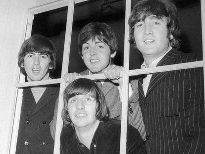 Los Beatles en los estudios Twickenham en 1965.