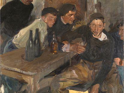 'Los borrachos, Zarauz', obra de Joaquín Sorolla de 1910.