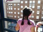 Niña en confinamiento por el COVID-19 (Málaga)