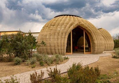 Prototipo de Casa de tierra impresa en 3-D, diseñada por Mario Cuncinella