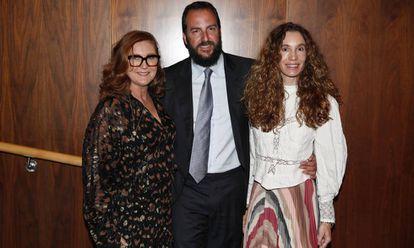 Francesca Thyssen, Borja Thyssen y Blanca Cuesta, en el Museo Thyssen-Bornemisza de Madrid hace un año.