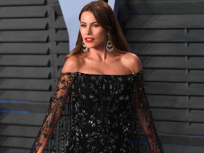Sofia Vergara, en la alfombra roja de la fiesta de 'Vanity Fair', el pasado marzo.