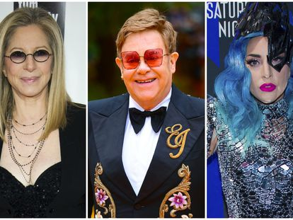 Barbra Streisand, Elton John y Lady Gaga.