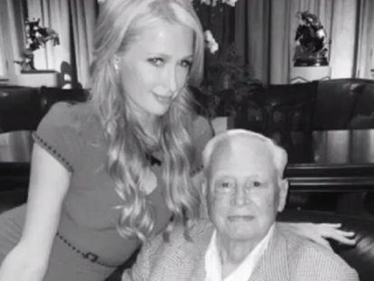 Paris Hilton con su abuelo Barron Hilton, en una imagen de su Instagram.
