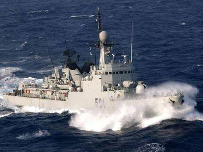 La corbeta marroquí 'Teniente Coronel Errahmani'.