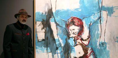 Jorge Rando ante una de sus obras de la serie 'La pasión de Käthe Kollwitz'.