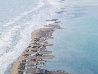 Estado de la Barra del Trabucador, en el Delta del Ebro.