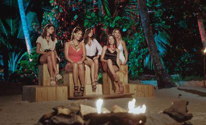 Las cinco mujeres participantes en 'La isla de las tentaciones'.