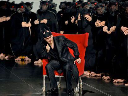 """El bajo Wilhelm Schwinghammer, en el papel de rey Heinrich, este verano en el montaje de """"Lohengrin"""" en el Festival de Bayreuth."""
