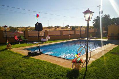 Una de las piscinas que se alquila en Madrid