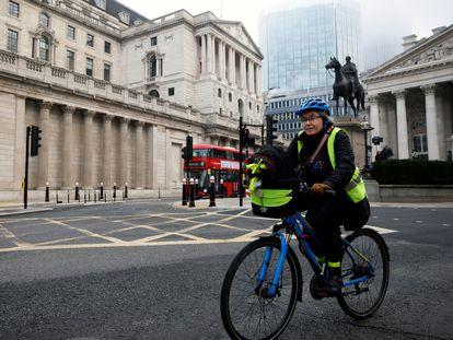 Sede del Banco de Inglaterra, en Londres, este jueves.
