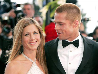 Jennifer Aniston y Brad Pitt, en el festival de Cannes, en 2004.