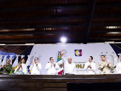 López Obrador, durante la Conferencia Nacional de Gobernadores (CONAGO) el pasado 21 de febrero.