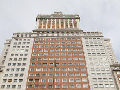 Frontal del Edificio España.