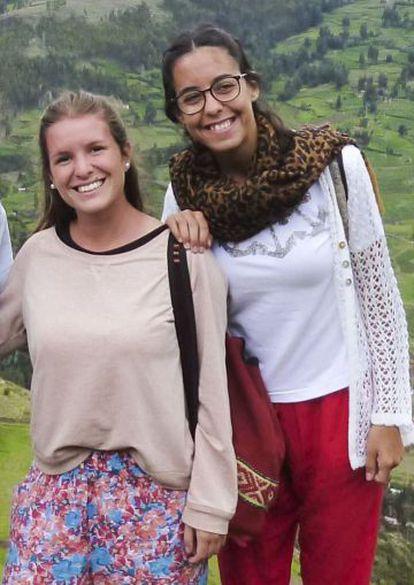 Las dos jóvenes asesinadas en Ecuador.