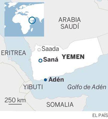 Situación geográfica de Yemen.