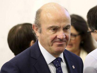 El ministro de Economía, Luis de Guindos, en Malta el pasado fin de semana.