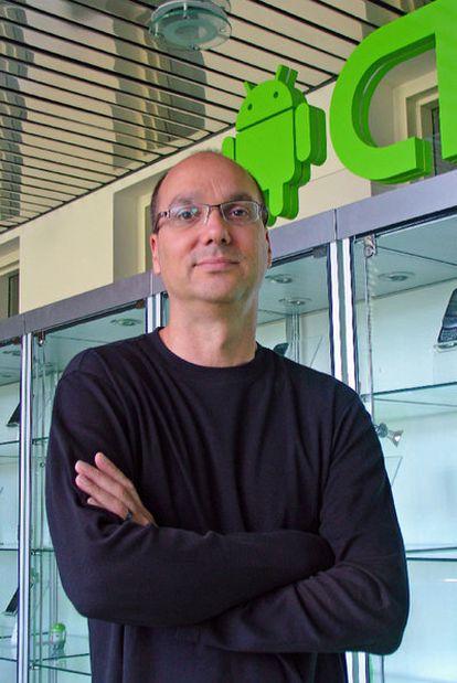 Andy Rubin, creador y jefe de Android, en la sede de Google en California.
