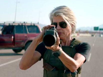 Linda Hamilton, en 'Terminator: destino oscuro'.
