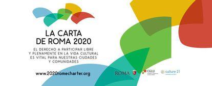 Cartel promocional de la Carta de Roma 2020.
